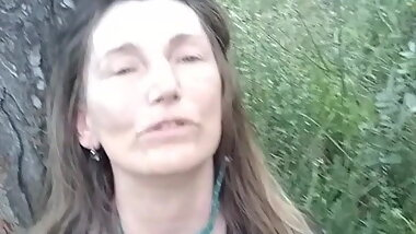 facefucked in the woods
