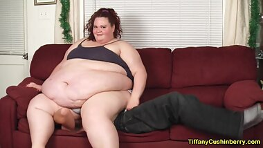 Tiny Guy Squashed By SSBBW Under Her Huge Ass and Fat Belly - Bare Ass Smother & Asshole Licking