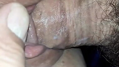 Amateur couple slow fucking, swollen wet pussy and fat hard cock