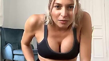 Lena Gercke Pregnancy Boobs Workout (2020)