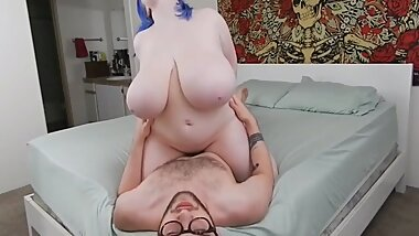 Chubby Teen Paying for Rent with her Tight Pussy