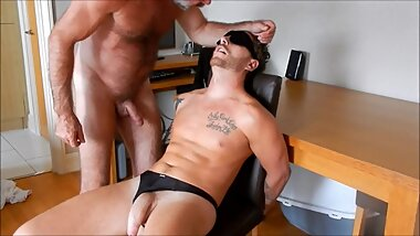 A kinky daddy tied and fucked Josh Moore bareback until he cums in his mouth (trailer)